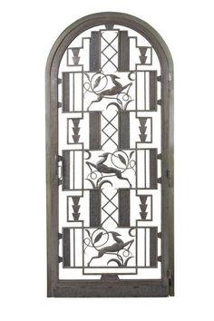 Edgar BRANDT (d''après un modèle de)  Porte ' Antilopes '