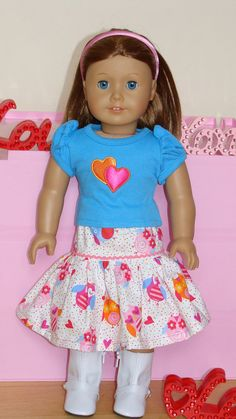 American Girl Doll 18 inch 2 piece Owl and Hearts by SweetPeaKidz, $22.00