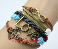 Bronze infinite love cool anchor where there is a by rosedreams777, $7.59