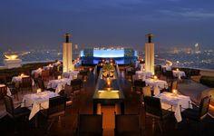 10 restaurants with jaw-dropping views/ Sirocco Restaurant Bangkok, Thailand