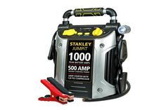 Stanley 1000 Peak Amp Power Portable Jump Starter Battery Charger Compressor  #Stanley