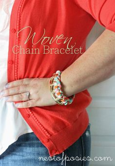 woven chain-chain-chain bracelet - Nest of Posies
