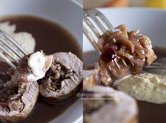 Filet mignon à l'oignon confit, airelles, foie gras et vin rouge - Recette et photo par Cook'n Focus