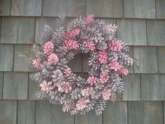 Pink Pinecone Wreath