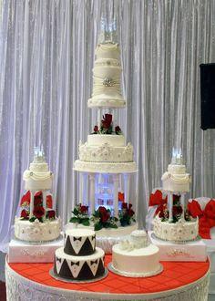 Cinderella wedding cake with bling