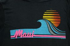 Maui Hawaii 1980's TShirt L by QuiteNiceVintage on Etsy, $22.00