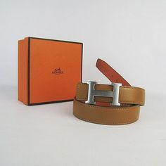 Hermes belt in light tan with shiny silver/chrome H buckle just like this! Approximately $600