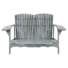 Beautifully crafted of acacia wood, this charming Adirondack-style bench is perfect for watching the sunset or relaxing with a cocktail on the patio.  ...