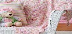 Mitered Lace Blanket - Knit Free Pattern