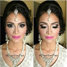 Arabian bridal makeup