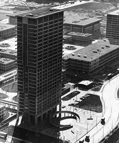 archiveofaffinities:    Walter Netsch/SOM, University Hall, University of Illinois at Chicago, 1963-1968  -  coincidentally we previously lived in the same condo building as Walter Netsch, the architect who designed this building.