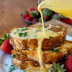 Parmesan French Toast- Because hollandaise sauce should go on everything.