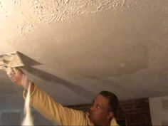 How To Remove Textured Wall & Ceilings Water Damage Drywall Plaster Popcorn Atlanta GA Home Repair - YouTube