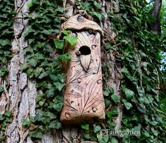 May 18, 2012 , I love this unique bird abode made from clay.