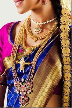 Traditional tamil wedding jewellery