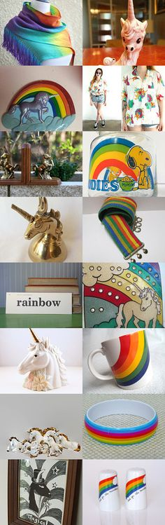 Rainbows And Unicorns by livingavntglife on Etsy--Pinned with TreasuryPin.com