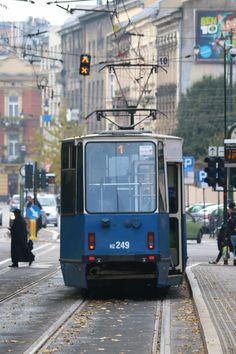 Blue Tramway, Kraków, Poland.