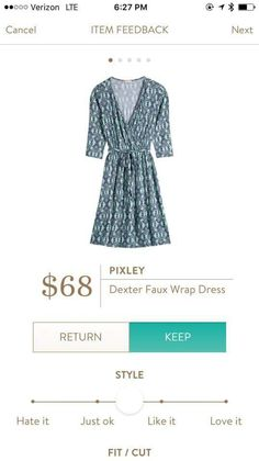 Pixley Dexter Faux Wrap Dress