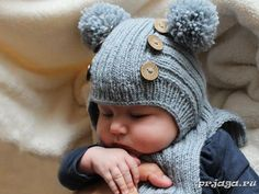 Шапочка шлем спицами для мальчика, видео