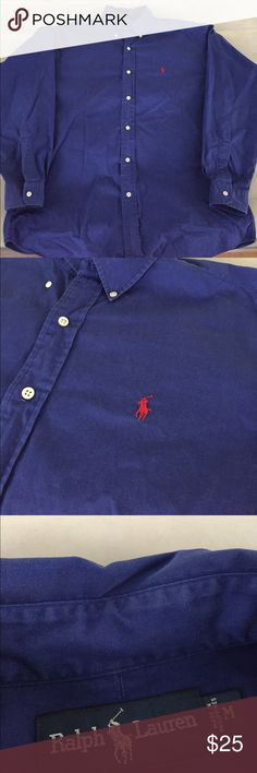 Ralph Lauren Button Down Polo symbol on shirt is Red. Size Medium but can comfortably fit a Large. Ralph Lauren Shirts Casual Button Down Shirts