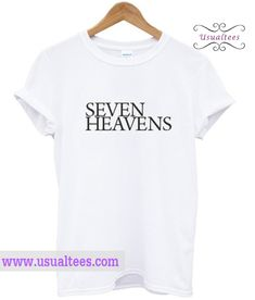 Seven Heavens T Shirt from usualtees.com This t-shirt is Made To Order, one by one printed so we can control the quality.