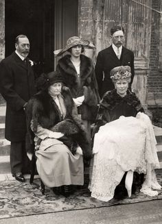 Christening of George Lascelles, later Lord Harewood, first grandchild of George V and Queen Mary