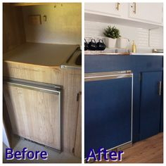Before and After Caravan/Camper/Poptop/RV renovation Kitchen