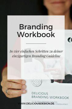 Das Delicious Branding Workbook zum Gratis-Download führt Selbstständige und Solopreneure in vier einfachen Schritten durch den Branding-Prozess. Personal Branding, Café Branding, Marketing Logo, Online Marketing, Business Marketing, Cl Design, Logo Design, Monogram Logo, E Learning