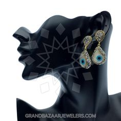 54d9725cc Customize & Buy Evil Eye Fashion Jewelry Bijou Earrings - GBJ3ER6131-1 Evil  Eye Online