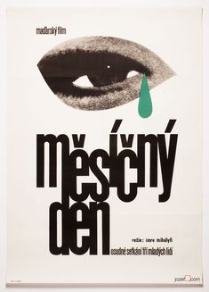 Minimalist poster with mysterious collage and fine typography by Czech poster designer and fine artist Václav Zeman. #minimalistposter #typography #graphicdesign