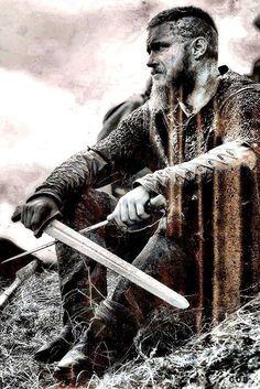VIKINGS DAILY Ragnar Lothbrook, Ragnar Lothbrok Vikings, King Ragnar, Lagertha, Wallpaper Vikings, Viking Wallpaper, Arte Viking, Viking Metal, Vikings Tv Series