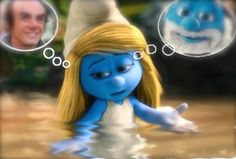Smurfette thinking in Gargamel and Papa Smurf. My thoughts about adoption.