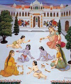 Ramayana: A História do Rei Rama Krishna Hindu, Bal Krishna, Cute Krishna, Hindu Deities, Hinduism, Indian Gods, Indian Art, Ram Pic, Ramayana Story