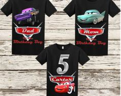 Disney Cars Birthday Shirt - Cars Shirt - Matching Family Shirts Available by BellaFashionDesignz Disney Birthday Shirt, Birthday Shirts, Boy Birthday, Birthday Ideas, Car Themed Parties, Cars Birthday Parties, Auto Party, Festa Hot Wheels, Disney Cars Party