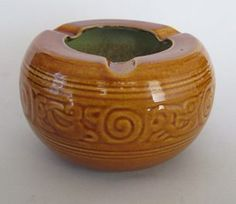 Wharetana Ashtray for sale on Trade Me, New Zealand's auction and classifieds website Honey Glaze, Decorative Bowls, June, Porcelain, Pottery, Crown, Beautiful, Ceramica, Porcelain Ceramics