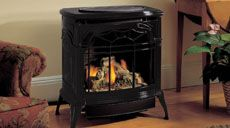 Vermont Castings Stardance vent free gas stove - Buy Vermont stoves at Old Flames of Beverley - UK Gas Stove Fireplace, Vent Free Gas Fireplace, Faux Fireplace, Gas Fireplaces, Fireplace Ideas, Free Standing Gas Stoves, Vermont Castings Wood Stove, Stove Vent, Simply Home