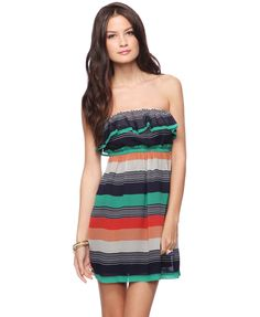 Striped Strapless Dress  $12.50