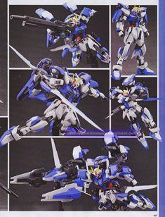 1/144 GAT-105AC/hs Advanced Strike Gundam - Custom Build  Bash Kit Build using HG Strike Noir Gundam, HG Strike Gundam, HG Gundam Avalanche Exia Dash, and HG Gundam Age 2  Modeled by Akira Sakai