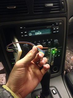 Hack an aux input into your old ride to play your favorite MP3 jams. #Atmel #Makers #Arduino #Hack