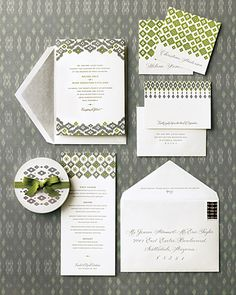 LOVE these fabric inspired invitations by Curious & Co! in the Martha Stewart Wedding fall edition :)