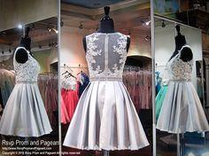 Silver V-Neck Short Homecoming Dress