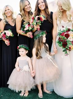 The bridal party and
