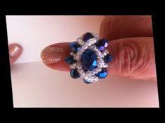 Beginners Bracelet Sunflower T Diy Jewelry Charms, Seed Bead Jewelry, Beaded Jewelry, Handmade Jewelry, Beaded Bracelets, Diy Beaded Rings, Beaded Anklets, Diy Rings Tutorial, Swarovski Crystal Rings