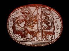 Etruscan scarab 500 - 480 BC. Carnelian. Location: Perugia (Italy). © Foto: Antikensammlung der Staatlichen Museen zu Berlin - Preußischer Kulturbesitz