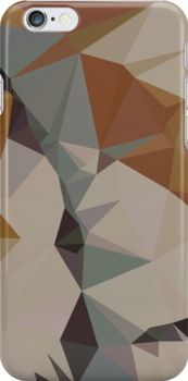 Cornsilk Brown Abstract Low Polygon Background by retrovectors