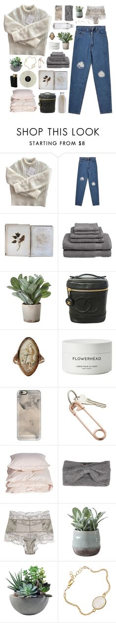 """""""having a good heart fvcks you up in this generation"""" by annamari-a ❤ liked on Polyvore featuring Acne Studios, FOSSIL, Welspun, Torre & Tagus, Chanel, Byredo, Casetify, CB2, Aiayu and La Perla"""