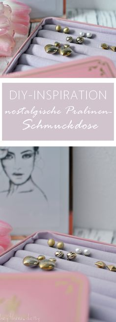 Eine zuckersüße DIY-Inspiration für den Valentinstag, als Geschenk für die liebste Freundin oder als Mitbringsel für die Mama. mehr unter: www.heytheredaisy.com  #schmuckdose #jewelry #chocolate #lindt #rosa #rose #schmuck #ohrringe #earrings #diy #inspiration #anleitung #classy #nostalgic #blechdose #geschenkidee #geschenk #freundin #bestefreundin #gift #ideas