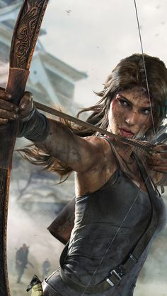 Lara Croft from Tomb Raider (I never could relate to the other Lara. She seemed ridiculous to me. The new Lara is a determined survivor. Tom Raider, Tomb Raider 2013, Tomb Raider Underworld, Tomb Raider Lara Croft, Wallpaper Lara Croft, Laura Croft, Super Heroine, Chica Fantasy, Rise Of The Tomb