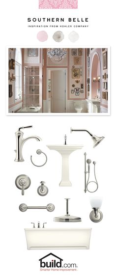 Kohler has created the perfect bathroom remodel collection that allows you to bring some warm, neutral colors into you home. You can add some charm and class to any style with Kohler. Check out this beautiful collection and get inspired!