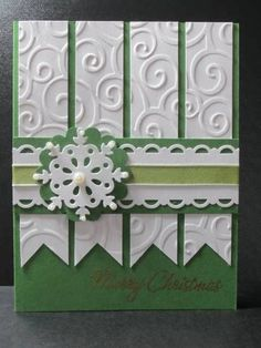 christmas cards by - Cards and Paper Crafts at Splitcoaststampers Homemade Christmas Cards, Christmas Cards To Make, Xmas Cards, Homemade Cards, Handmade Christmas, Holiday Cards, Winter Karten, Embossed Cards, Embossed Paper